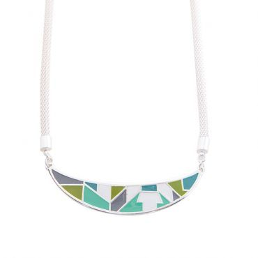 Arizona Necklace in Silver with Blue/Green by Foxy Originals