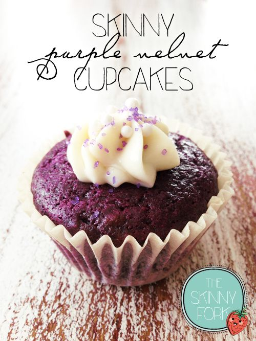 These perfectly skinny purple beauties are a super fun alternative to the infamous red velvet cake that we all know and love. Only 134 calories!