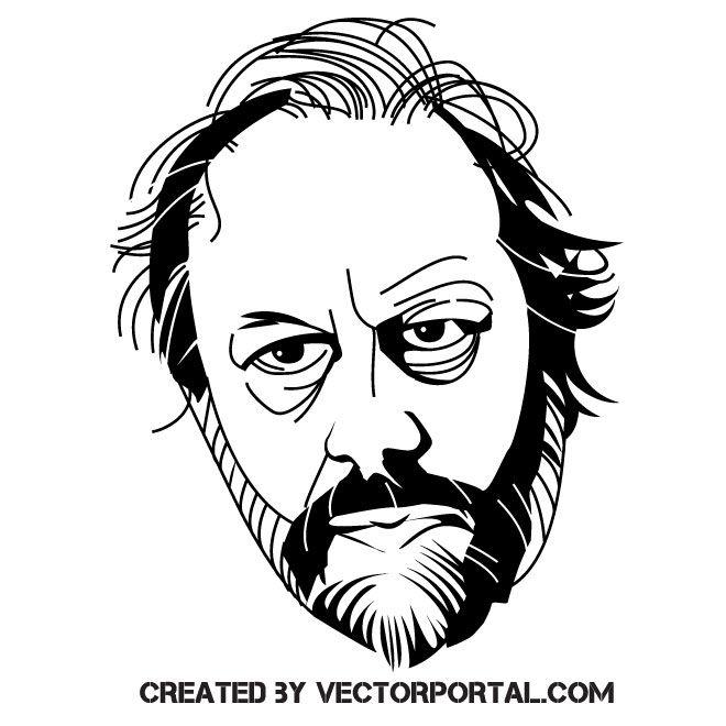 Slavoj Zizek vector art | Vector art, Vector illustration, Free vector  illustration