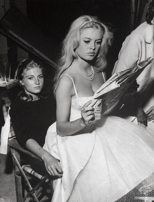 Brigitte Bardot with her sister