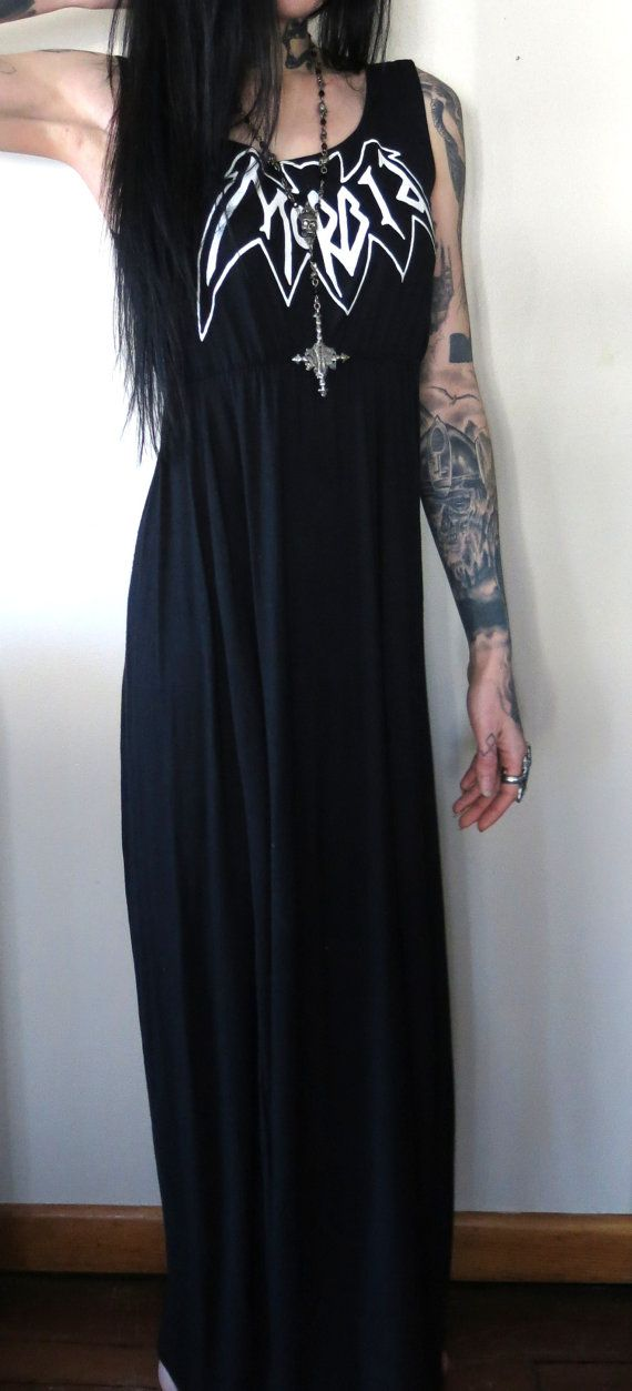 Morbid Girls Maxi Dress by HellCouture on Etsy, $140.00, Actually listen to the music. Don't just pin this dress.