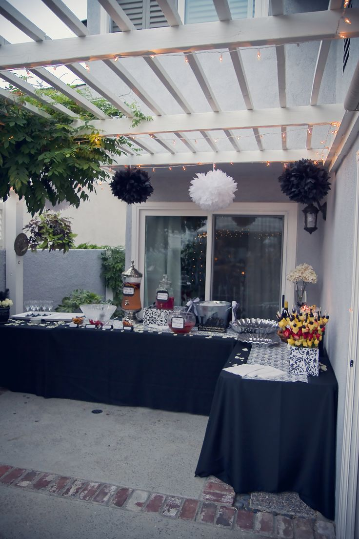 Dinner Buffet Area--great idea for a bridal shower! (And I took these pics, so it's that much cooler ;) )