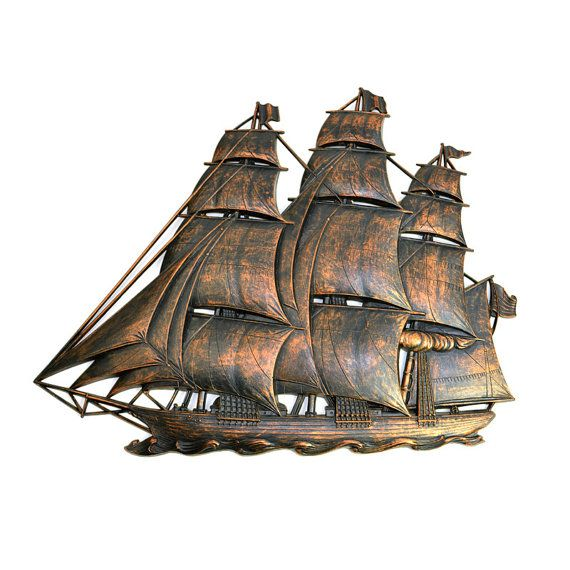 Rustic Ship Large Wall Hanging