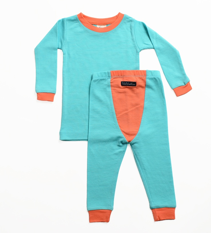 Wee Woollies Merino Pajamas - Little Kids. Made in Canada. Sizes 6-12mos, 1 yr up to 3 yrs.