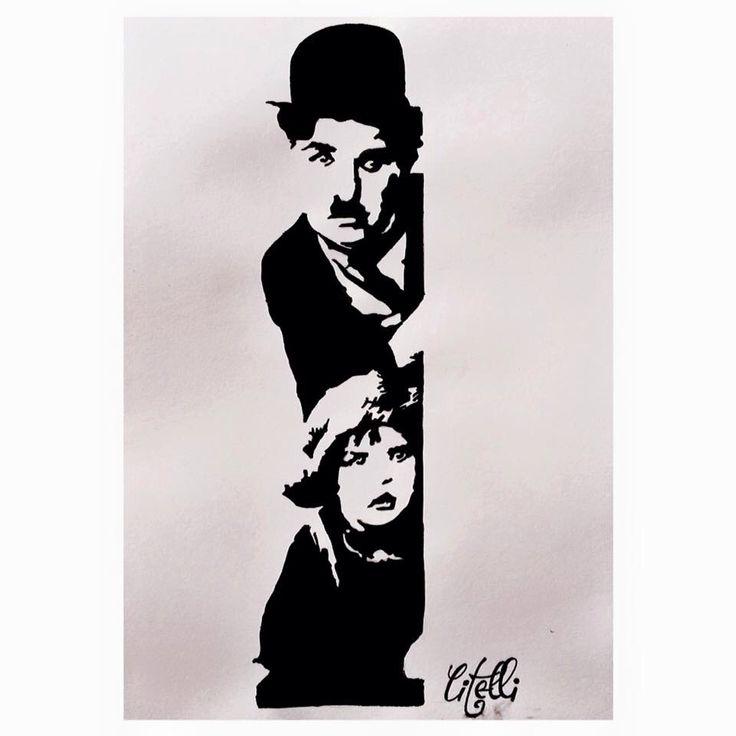 Charles Chaplin drawing