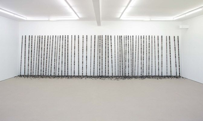 Ritual and Formation - Peter Robinson Ritual and Formation, 2013 wool felt, aluminum rod 2600 x 9750 x 500mm overall  installation dimensions vary