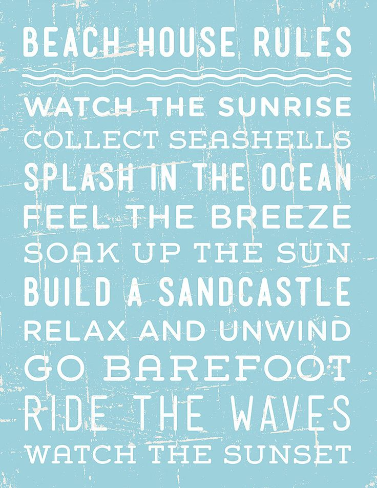 'Beach House Rules' Print. Must have for our new beach house.