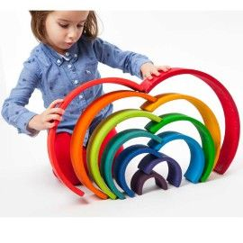 Fun for Preschool Kids to have fun with Colours of Rainbow Building Blocks. ❤