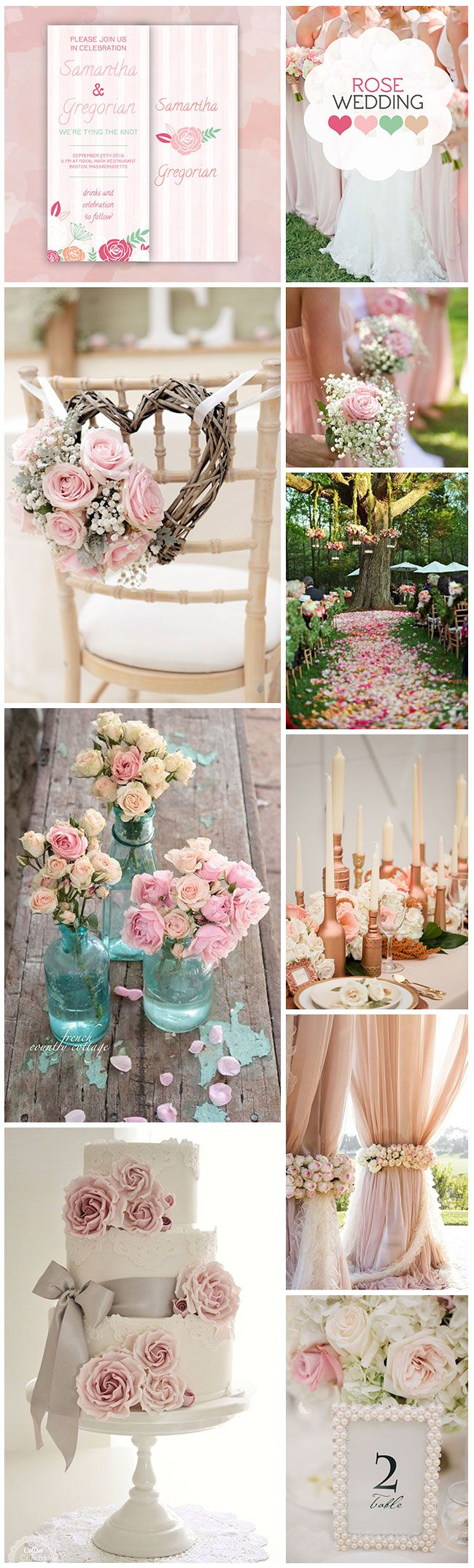 Hello dear romantics! Today we created for you a soft, feminine inspiration board for the ones that wish for a rose pink wedding
