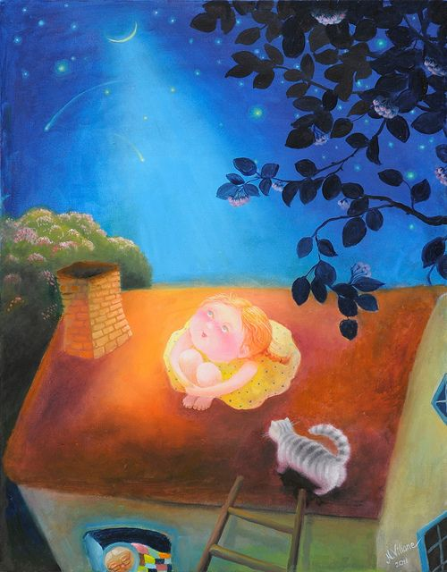 little dreamer | by Art by Natasha Villone