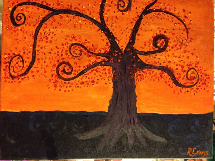 Tree, painting with Cathy in NY 2013