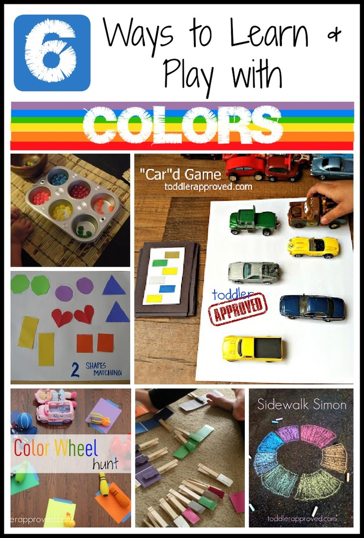 Toddler color learning games - 6 Ways To Learn Play With Colors