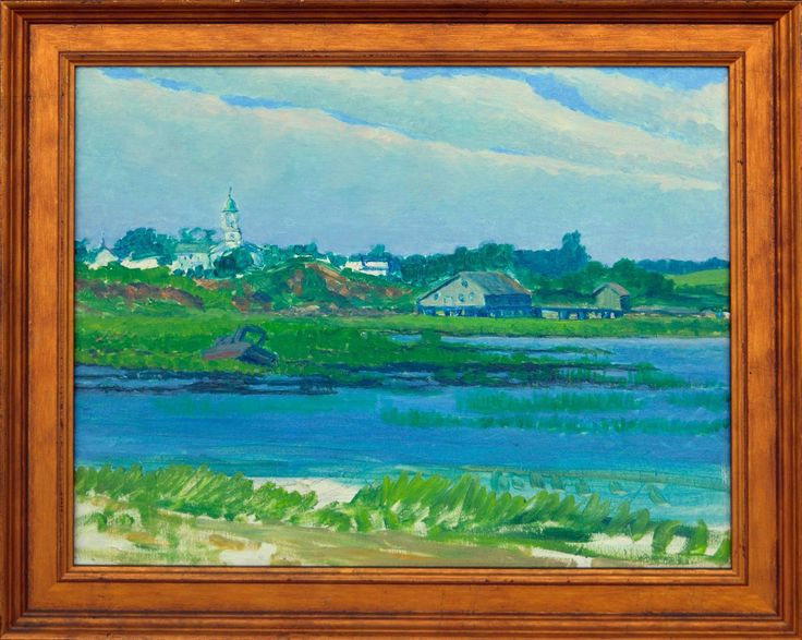 Martha's Vineyard Church   From a unique collection of landscape paintings at https://www.1stdibs.com/art/paintings/landscape-paintings/
