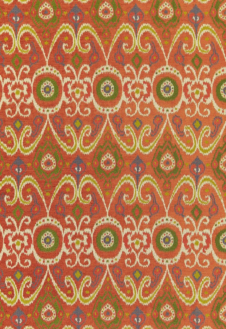 Weave medley light green fabric 6 yards contemporary drapery fabric - Fabric Bokhara Ikat Weave In Persimmon Schumacher