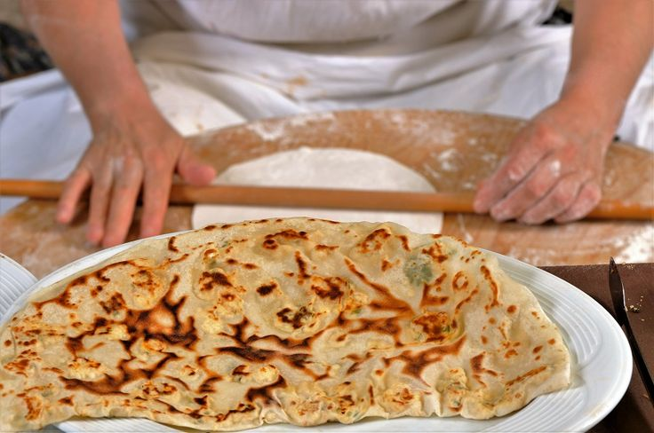 """Gözleme"""", a favorite of all Turkish people, a very common Turkish pastry made by local ladies!"""