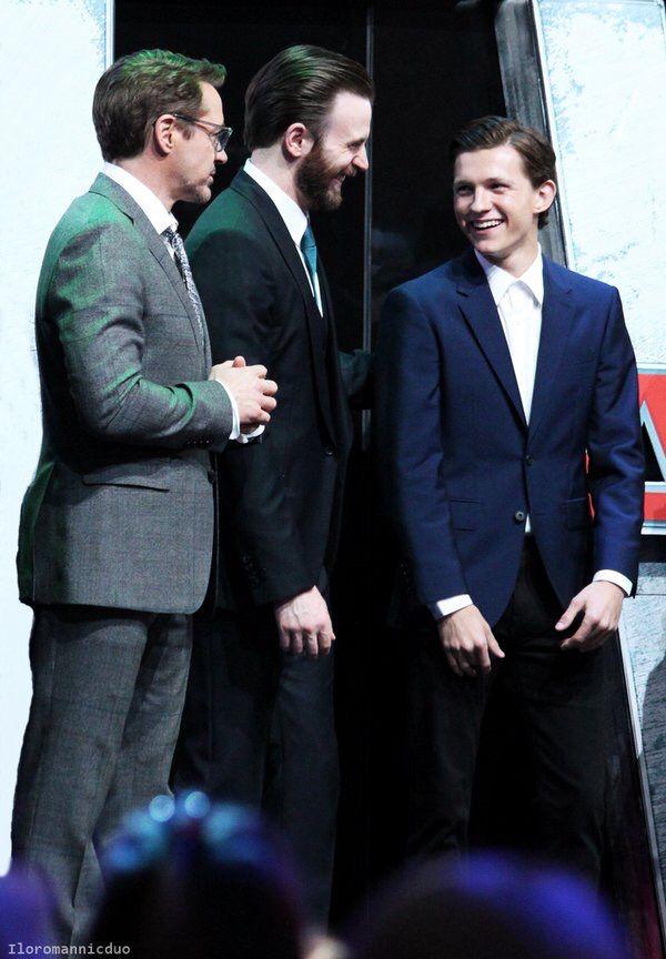 Robert, Chris and Tom | ️Tom Holland ️ | Tom Holland ...