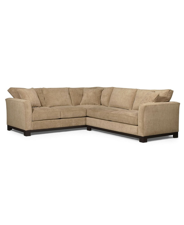"Macys Furniture Carle Place: Kenton Fabric Sectional Sofa, 2 Piece 107""W X 94""D X 33""H"