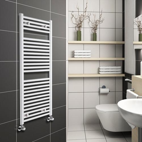 Bar on Bar Heated Towel Rails are practical and stylish.