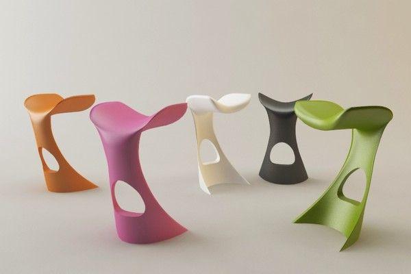 3d model koncord bar stool karim rashid - Koncord stool by Karim Rashid... by veinard
