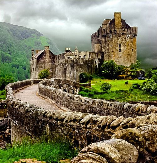 """Eilean Donan Castle, Scotland-we were there but at that point my wife was """"castled out""""(as was I),so we didn't go in. beautiful setting though."""