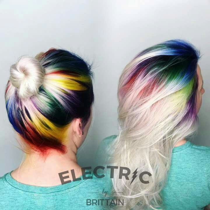 Clever idea! Rainbow roots ;)