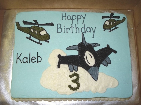 Jet and Helicopter Cake