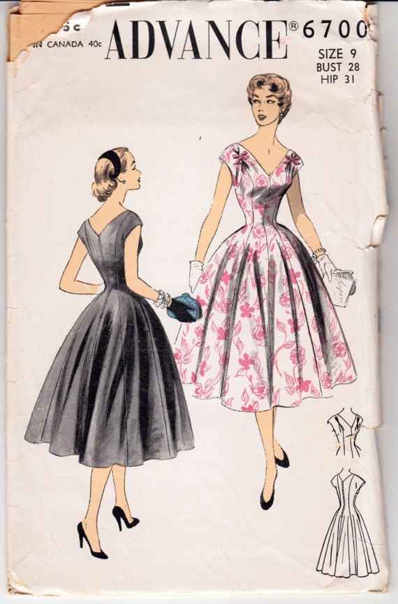 1950 ' s Vintage couture robe avance 6700 28 buste Teen