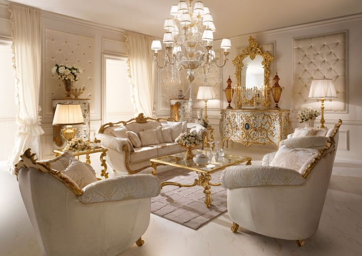 italian classic luxury wooden living room furniture