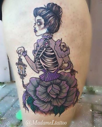 spooky beauty tattoo