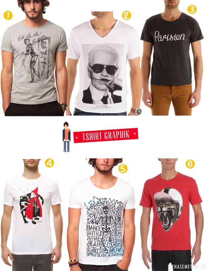 SELECTION | 6 T shirts Graphiques pour Homme | homme  | Blog Mode | Rien à se Mettre  www.rienasemettre.fr