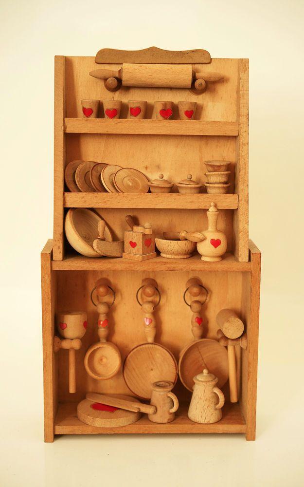Credenza Sevi anni 70 in legno casa per bambole vintage furniture for doll house