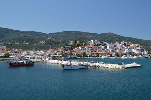 Old port of Skiathos Town