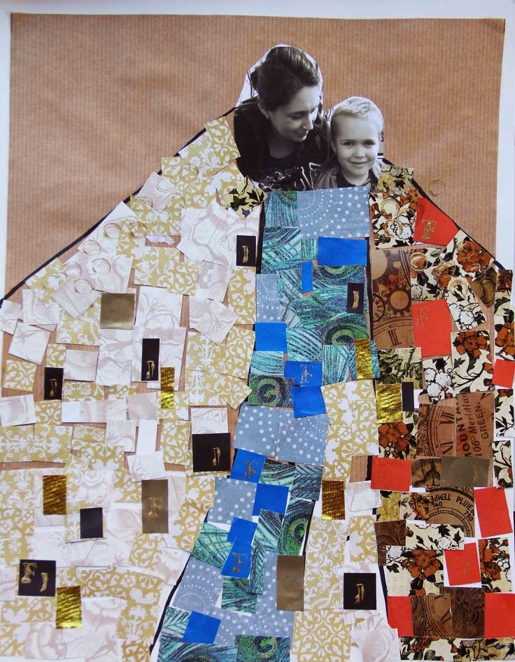 Mothers Day fine art project for kids - Gustav Klimt on www.ArtBoxAtelier.com…