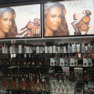 IMAN Cosmetics — yes. That Iman. Ageless supermodel beauty, entrepeneur, and David Bowie's wife. That Iman.   16 Black Owned Beauty Brands You Need To Know