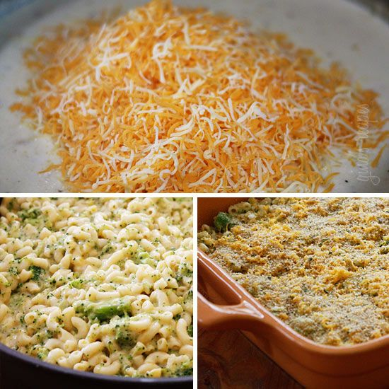 Weight Watcher's Baked Broccoli Macaroni and Cheese