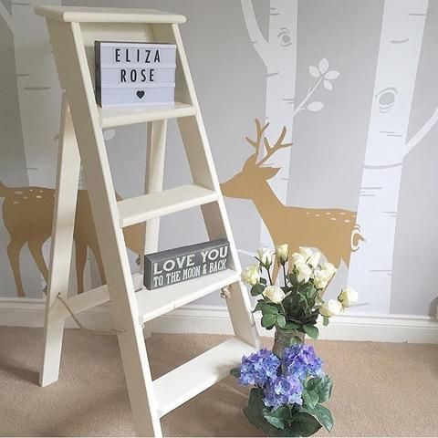 Vintage ladder painted in Everlong Chalk Paint Vintage - perfect as a wedding prop - painted by Eliza Rose