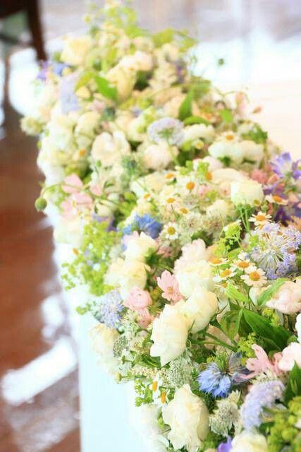 11 高砂 淡いグリーンと白、紫、わずかなピンク 小花が乙女でかわいい