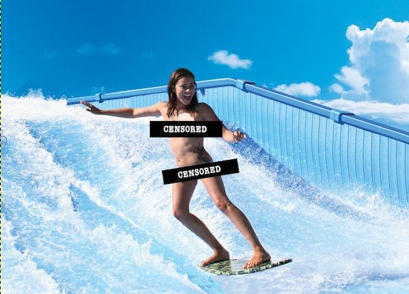 The High Speed Jets Of A Flowrider Surfing Simulator Can