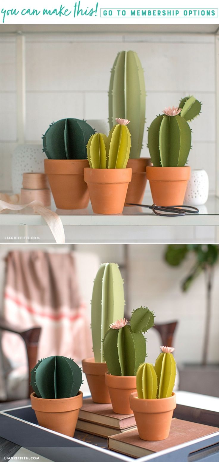 Prickle your Fancy ✨ These adorable potted paper cacti will catch eyes but won't prick fingers. They're sure to make your home look fab! https://liagriffith.com/paper-cacti/ * * * #cactus #cactuslover #cactuslove #paper #papercut #paperart #papercraft #papercrafts #succulents #succulentlove #plant #plants #plantsofinstagram #desert #desertlife #diy #diyidea #diyhome #diydecor #diyhomedecor #houseplant #diyproject #paperlove #paperflower #diycraft #madwithlia