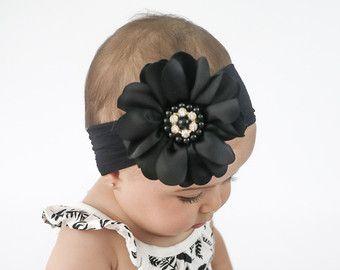 Baby hoofdband bleke roze grote boog hoofdband door BySophiaBaby