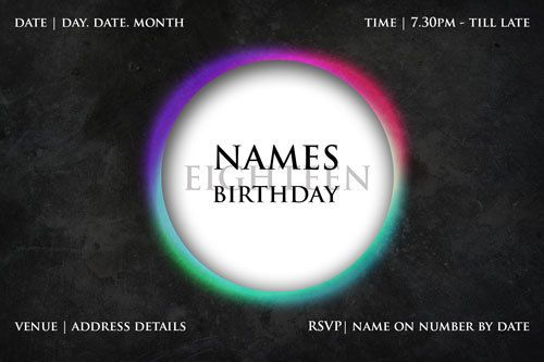 19 best party invitations for teens party invitations images on 21st birthday digital printable invitation template circular glow stopboris Image collections