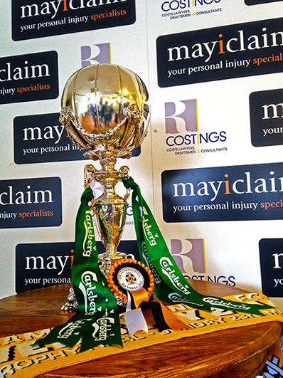 The FA Trophy on display at Cambridge United Football Club, R Costings Abbey Road Stadium on Thursday 27th March 2014