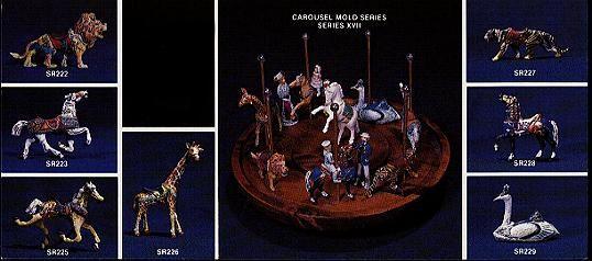Carousel Figure Molds for mold making.
