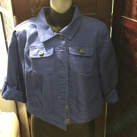 Royal blue jean jacket Royal blue. Good condition. Never worn. Size XL Jackets & Coats Jean Jackets