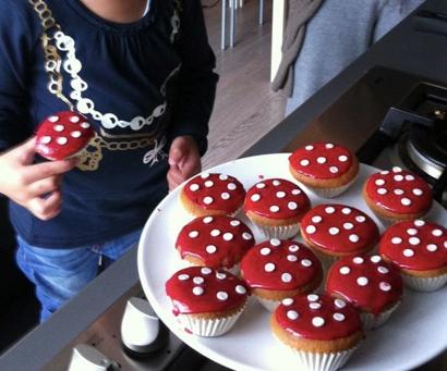 paddestoel cupcakes