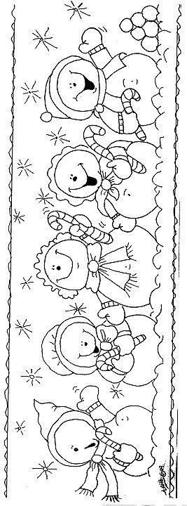 Lindos muñecos de nieve