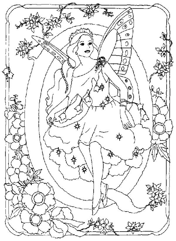 214 best fairies coloring pages images on pinterest coloring books vintage coloring books. Black Bedroom Furniture Sets. Home Design Ideas