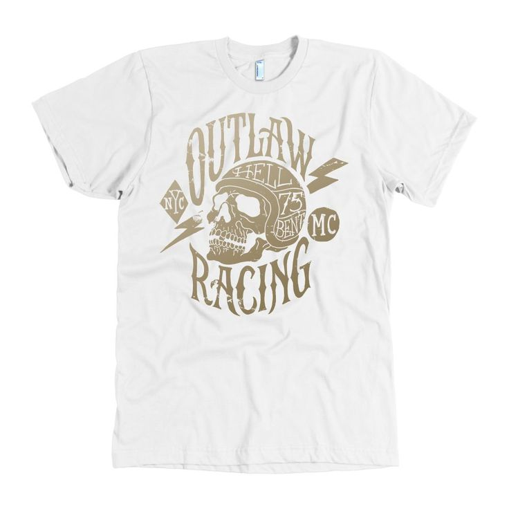 Hell Bent Outlaw Racing Men's American Apparel T-Shirt (Gold)