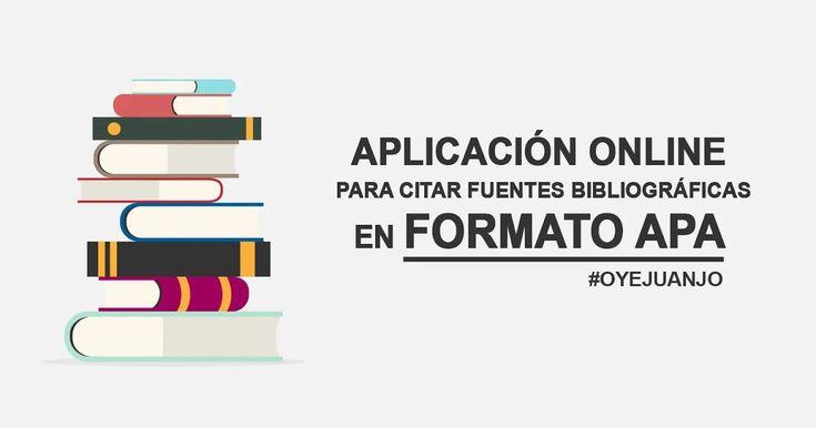 ¿Tienes dificultades para citar libros en Formato APA? Echa un vistazo a esta aplicación online de referencias bibliográficas de libros, diarios, revistas y páginas web.
