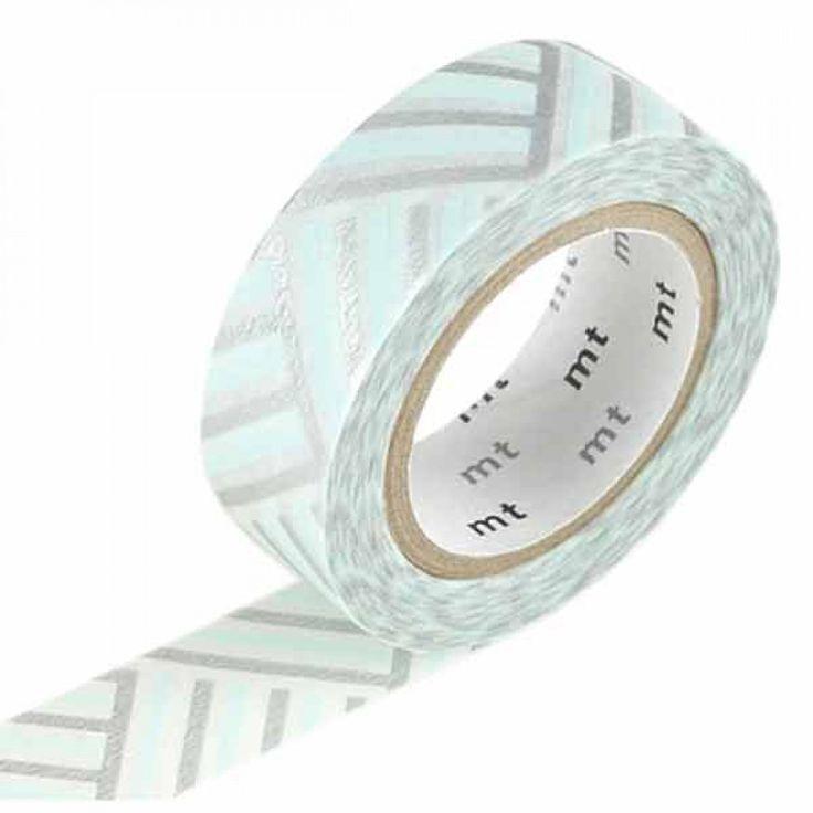 Masking tape 1 pièce tissage bleu et argent (corner izumi).Le masking tape est un rouleau de papier adhésif décoratif repositionnable.Permet...